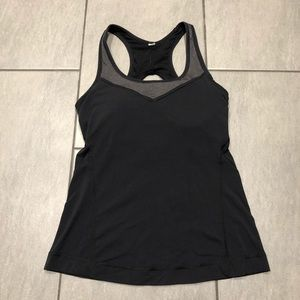 Lucy Tank Top Padded Black Grey